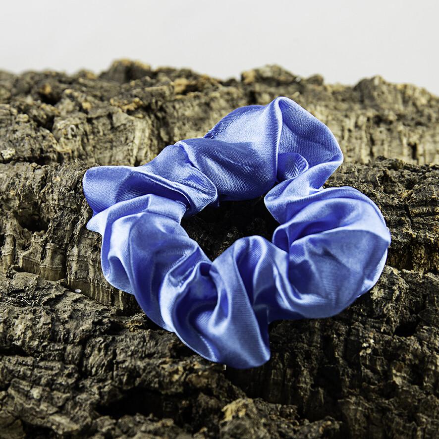 Scrunchie satijn - lichtblauw