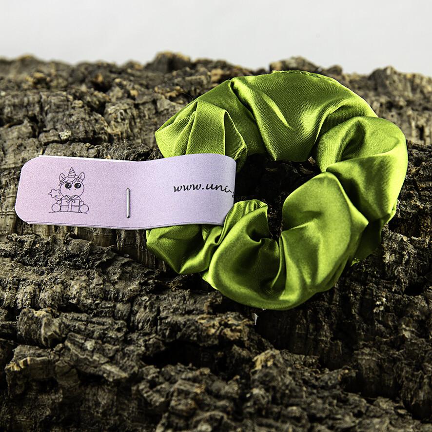 Scrunchie satijn - groen kaki