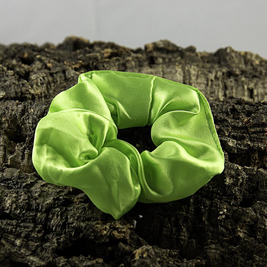 Scrunchie satijn - groen