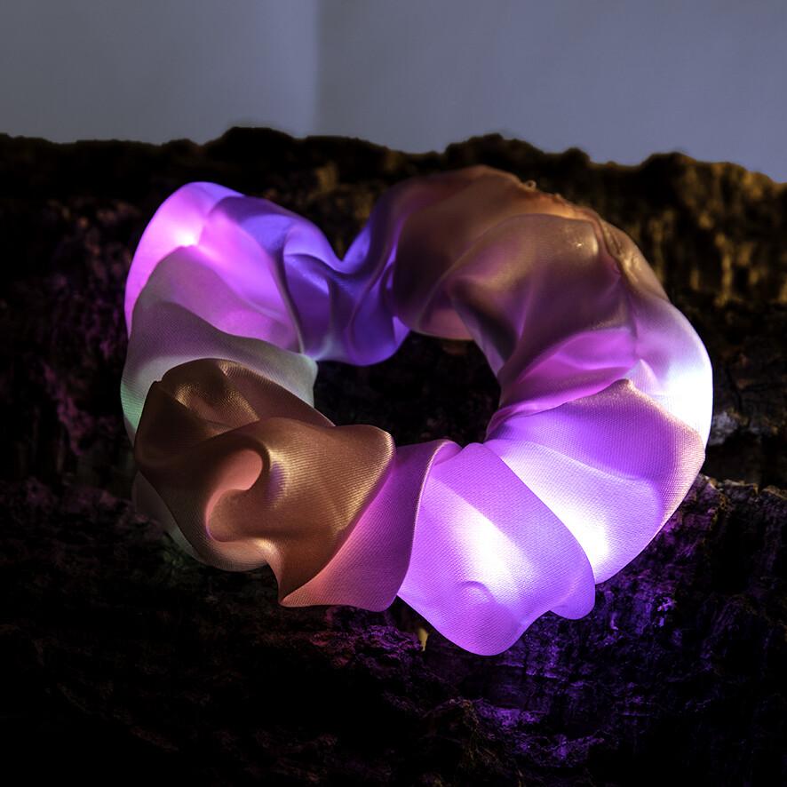 Lichtgevende scrunchie - roos