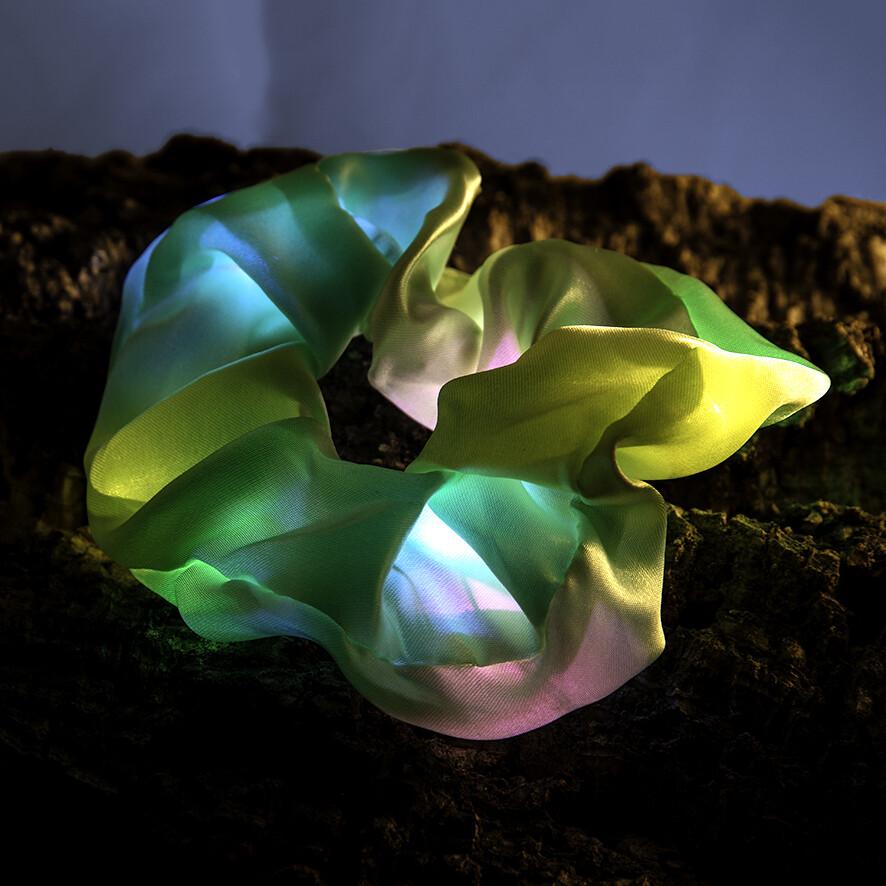 Lichtgevende scrunchie - groen