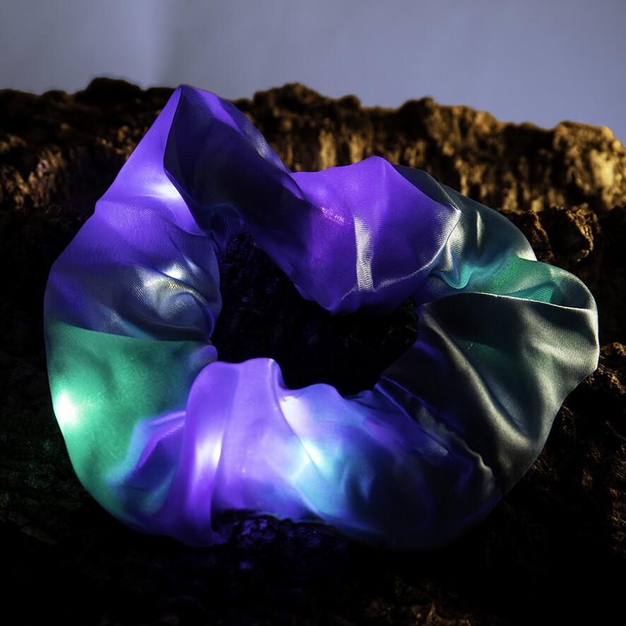 Lichtgevende scrunchie - blauw