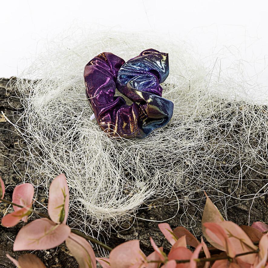 Scrunchie met rits - Neon blue-purple