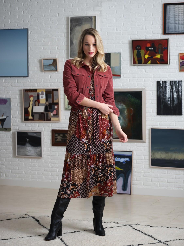 Dress patchwork print