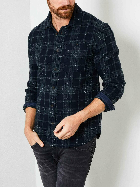 Petrol cotton shirt