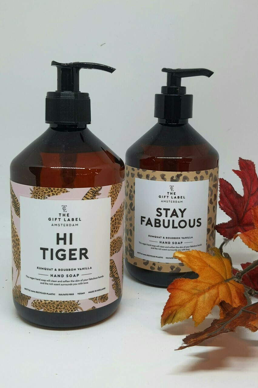 """Hi Tiger"" & ""Stay Fabulous"" Hand Soap"