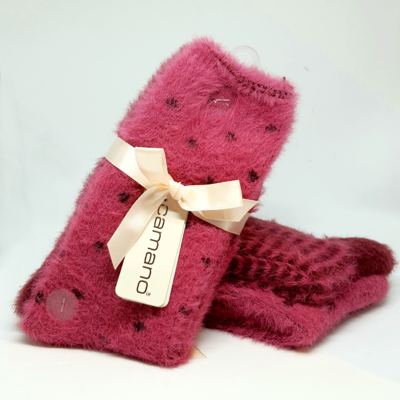 Fluffy socks Winter Berry (2 paar!)