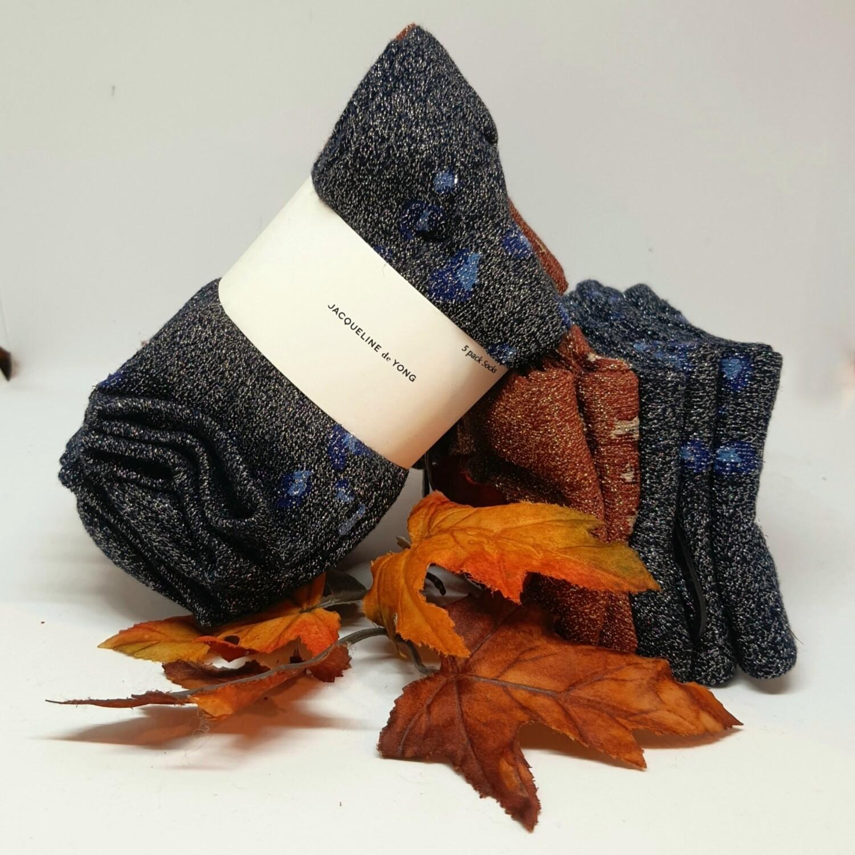 JdyNola glitter socks (5 paar!)