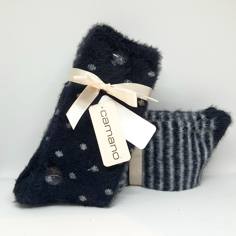 Fluffy Socks Black (2 paar!)