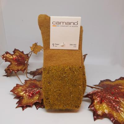 Camano sokken met glitterrand Amber Gold