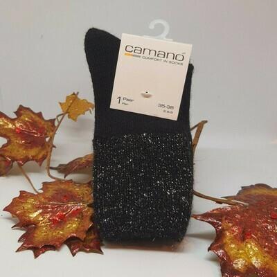 Camano sokken met glitterrand Black