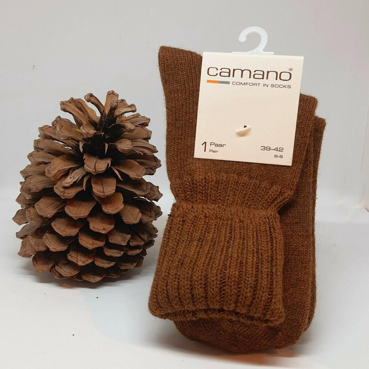 Camano sokken met wol Toffee