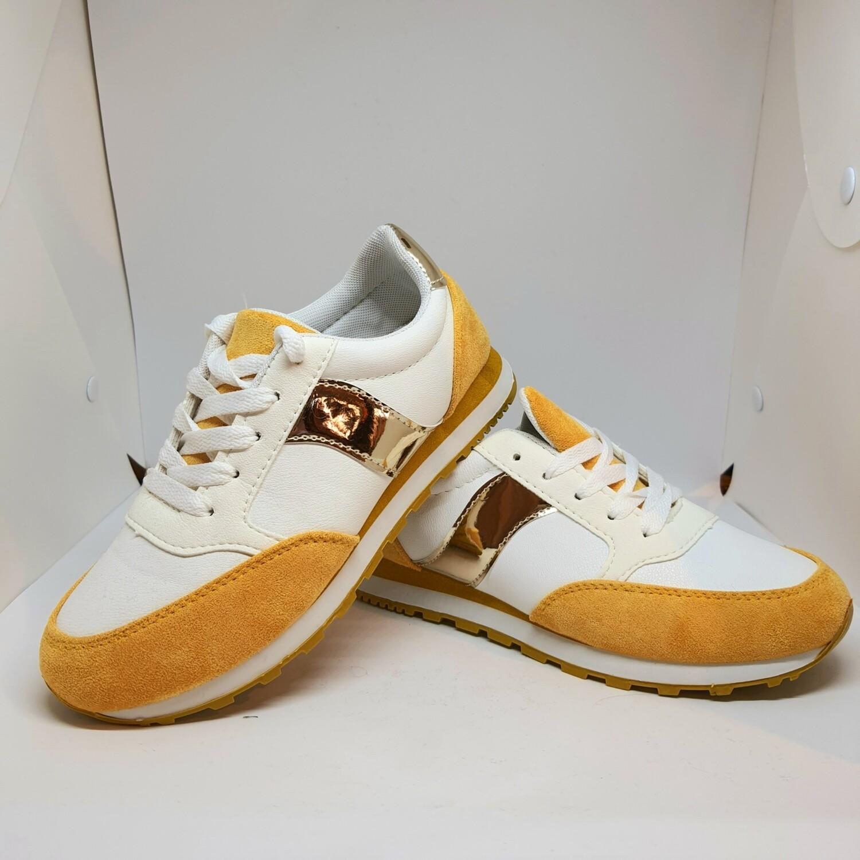 Sneaker gold & yellow