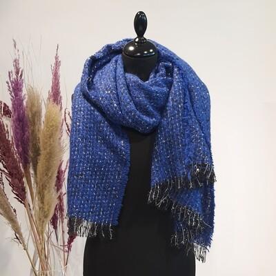 Sjaal Blauw Glitter