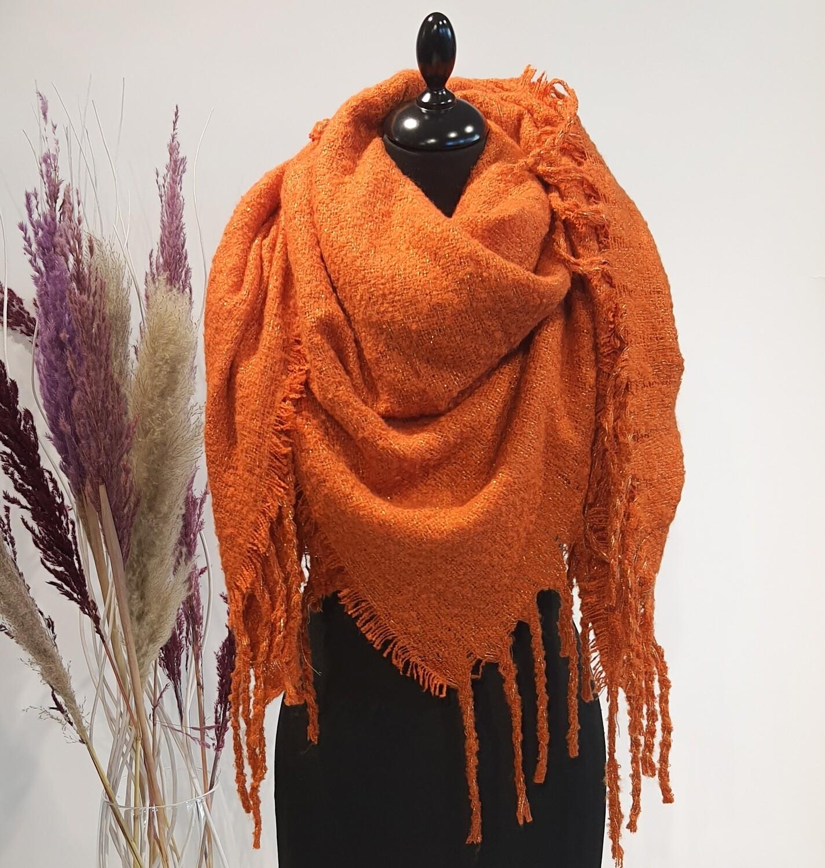 Sjaal oranje glitter