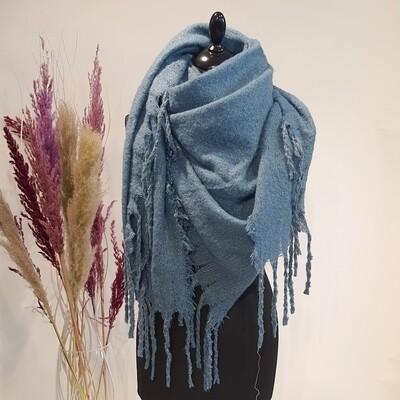 Sjaal licht blauw glitter