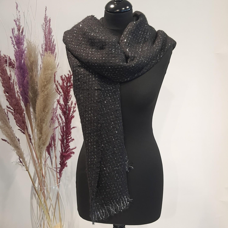 Sjaal zwart met zilver