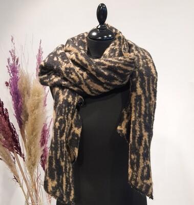 Sjaal bruin-beige