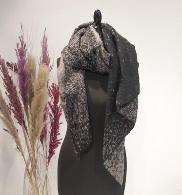 Sjaal grijs-zwart