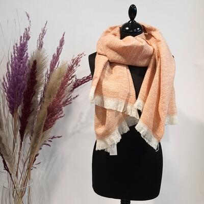 Sjaal zalmroze