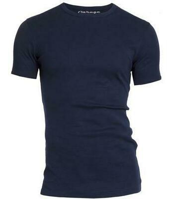 Garage basic T-shirt O-neck (Navy, Grijs, Zwart & Wit)
