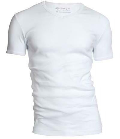 Garage basic T-shirt V-neck (Wit, zwart, grijs & donkergrijs)