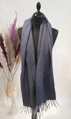 Sjaal Fishbone blue
