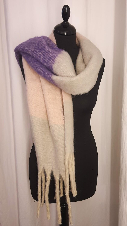 Sjaal wit-paars