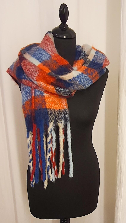 Sjaal oranje-blauw