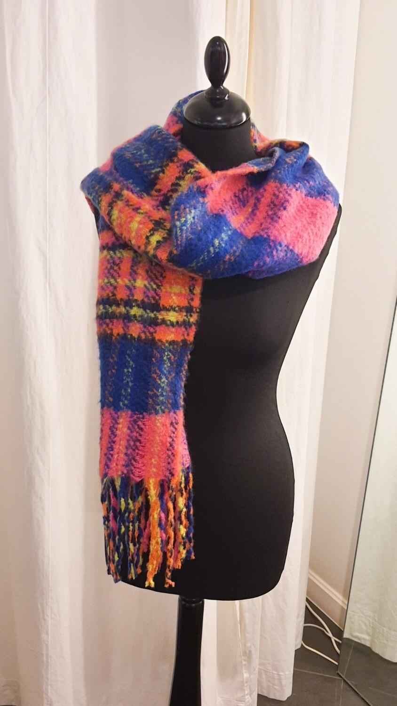Sjaal Neon roze-blauw