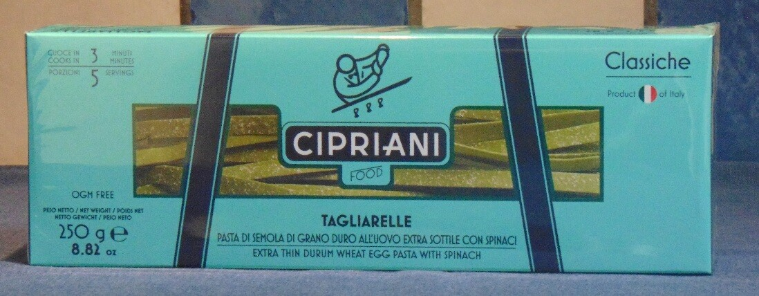 CIPRIANI TAGLIARELLE CON SPINACHI – ITALIË (VENETIË)
