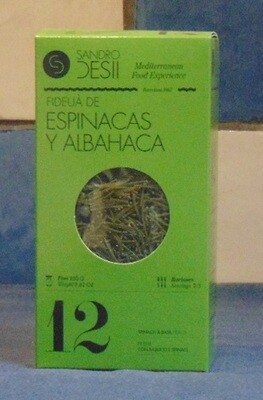 FIDEUÀ ESPINACAS Y ALBAHACA (SPINAZIE & BASILICUM) – SPANJE (CATALUNIË)