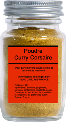 POUDRE CURRY CORSAIRE – ROELLINGER