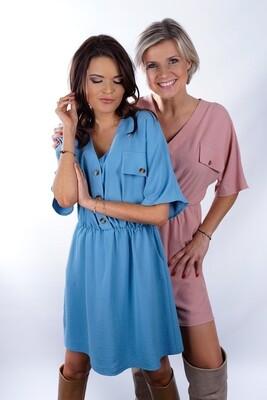 light bleu/pink dress