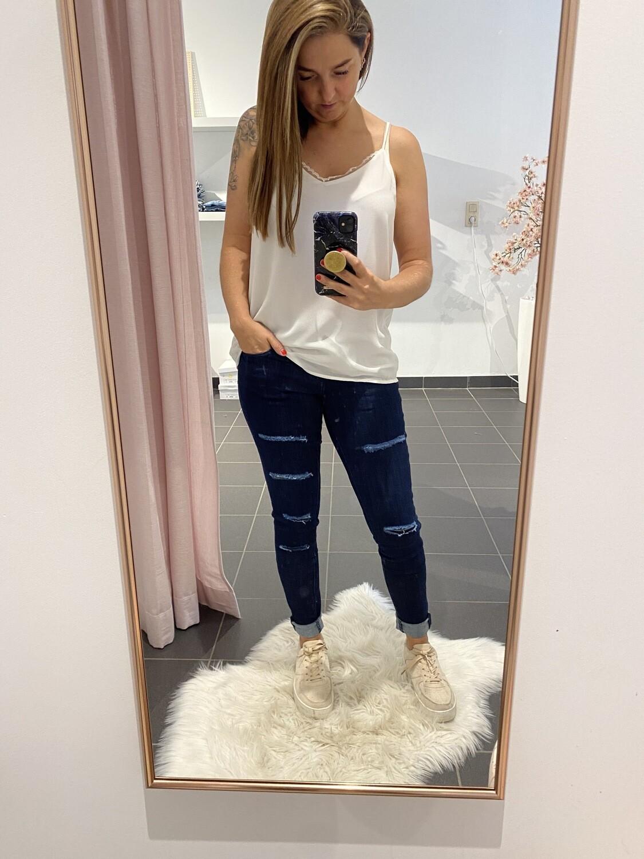 donker blauwe jeans toxik