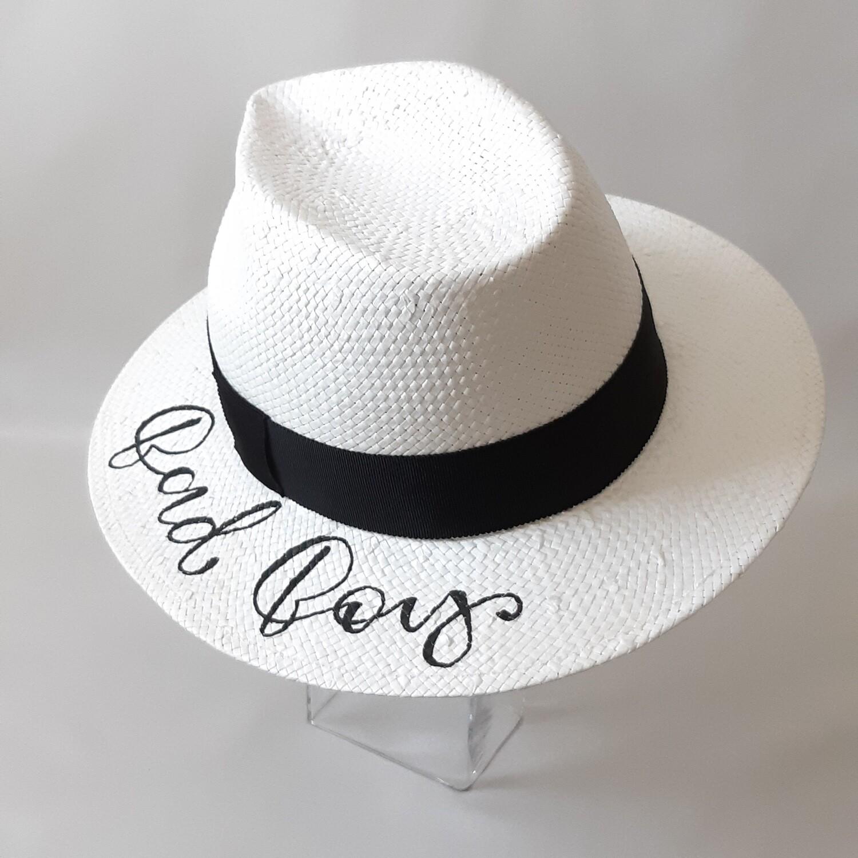 Fedora hoed (2) met tekst