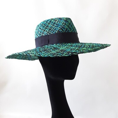 Zomer hoed -  Fedora met brede rand in papyrus