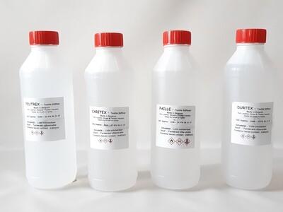 Stiffener package PRO:   FEUTREX: 2x1L - CARITEX: 1x1L - PAILLE: 1x1L -  DURTEX: 1x1L - XTRA 36: 1x1/2L - SOLVANT: 1x1/2L