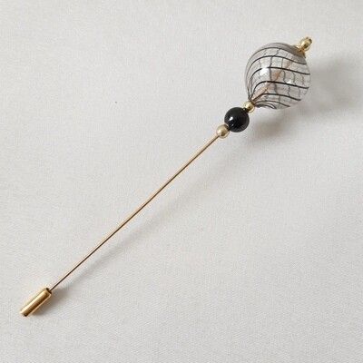 Hatpin - with Venetian glass beads