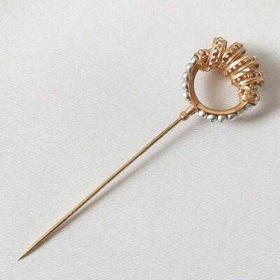 Hatpin - vintage hoedenpin met strass +/- 1915