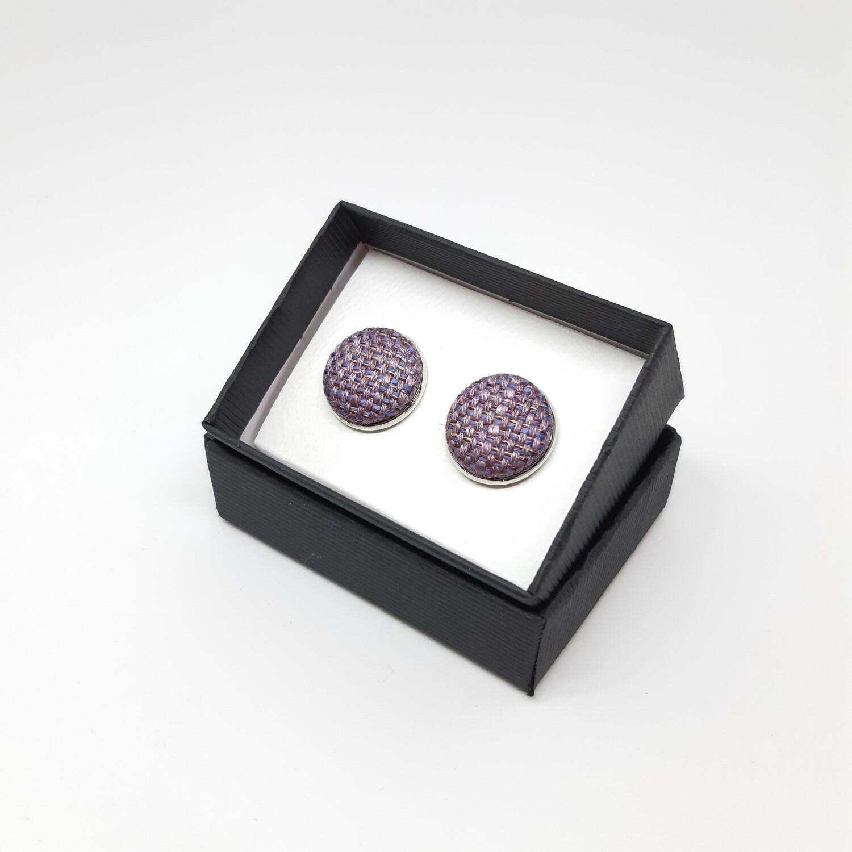 Manchetknopen - stof met glans - lavendel