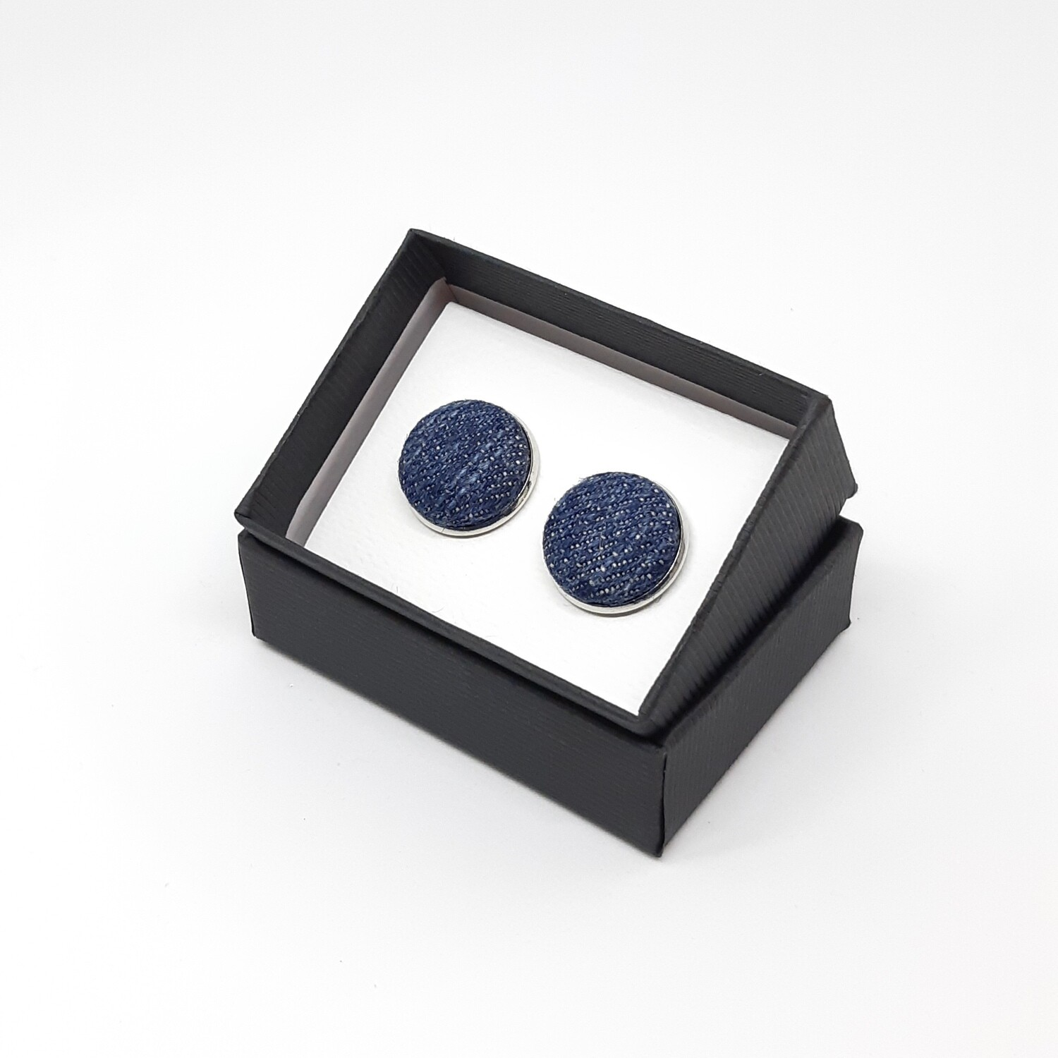 Denim cufflinks