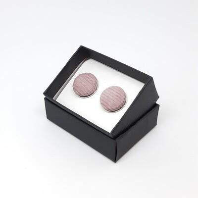 Manchetknopen in fijne ribfluweel stof - oud roze