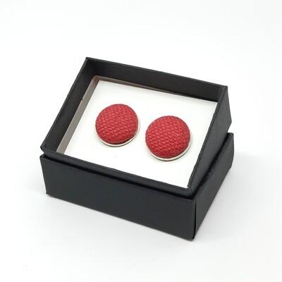 Manchetknopen in stof - framboos rood