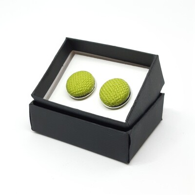 Manchetknopen in stof - hevig groen
