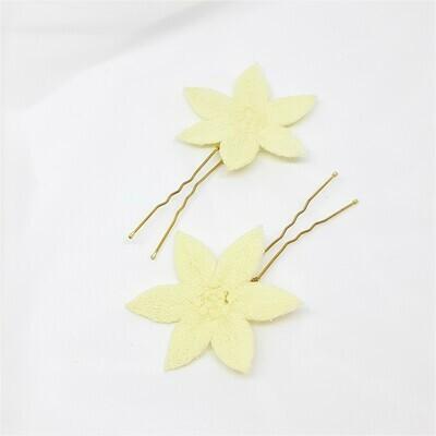 Haarpins - set van 2 spelden met edelweiss bloemen