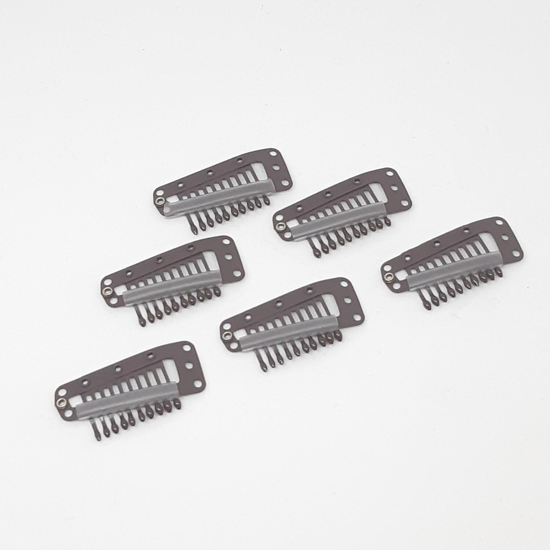 Metalen pruiken klemmen met siliconen