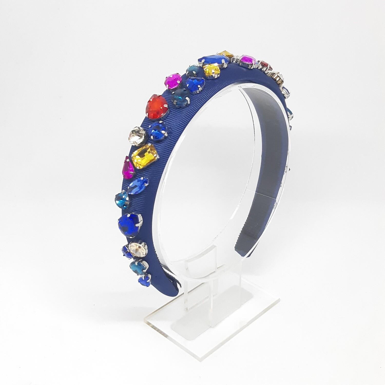Diadeem D&G-stijl met veel kleurige Swarovski kristallen 2