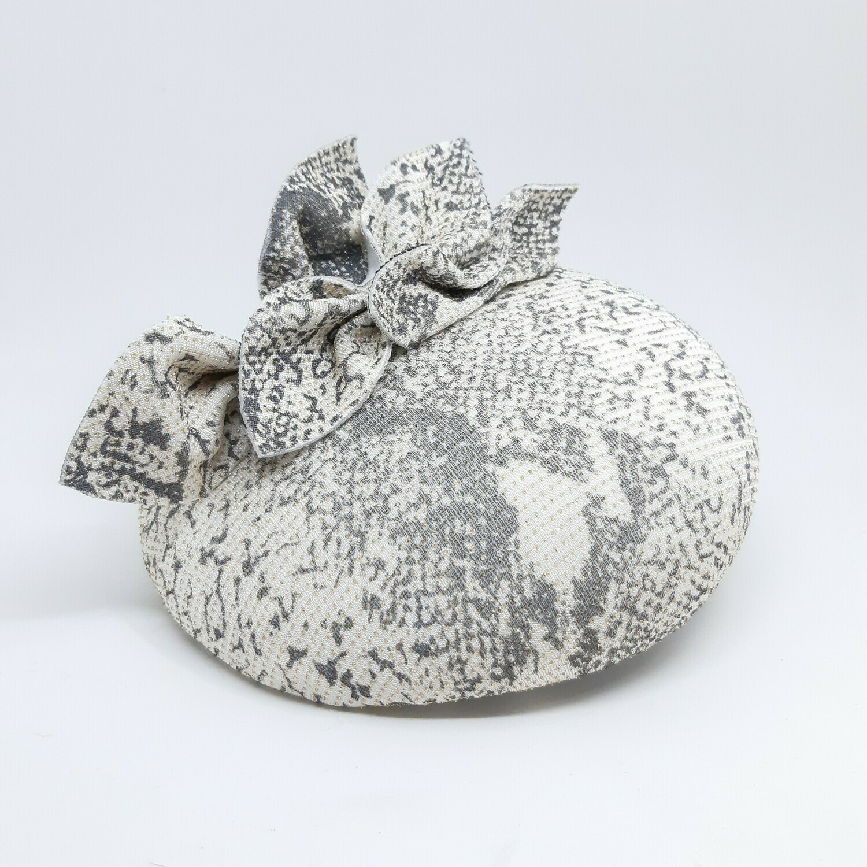 Fascinator - mini beret in stof met print