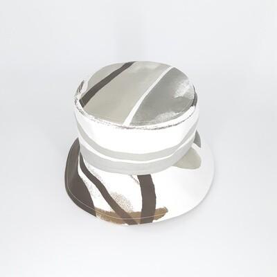 Bucket hoed met grijze print - mt 58